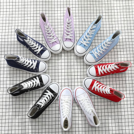 2018 New Arrival  Canvas Women Shoes High-top Comfortable fashion Outdoor Students  High Quality Sneakers