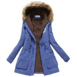 2019 women winter thicken warm coat female autumn hooded cotton fur plus size basic jacket outerwear slim long ladies chaqueta