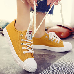 Canvas shoes for girls 2019 Spring Fashion Sneakers Solid Sewing Women Denim Shoe Sapato Feminino Size 35-40