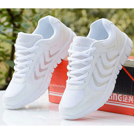 Fast delivery New arrival Woman Casual Comfortable Large size 35-44 shoes 2018 Mesh woman flat mixed colors Shoes tenis feminino