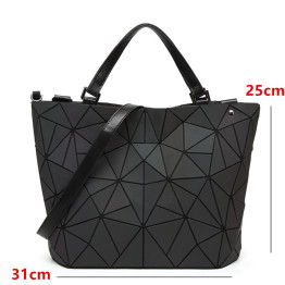 Japan luminous Women Bags Geometry Laser Folding Women Handbags Casual Tote Ladies Shoulder Messenger Bag Female Purses 2019