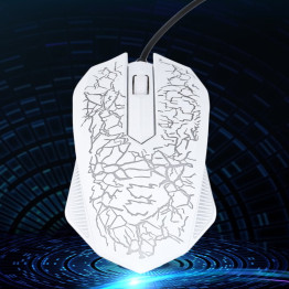 Professional Colorful Backlight 4000DPI Optical Wired Gaming Mouse Mice 3 Buttons USB Wired Luminous Mouse drop shipping
