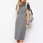 Women letters print plus size Dress vintage O neck short sleeve dress Vestidos femininos causal slim dress QZ1869
